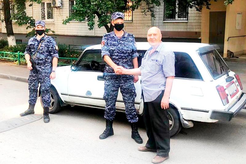 Росгвардейцами в Ростове-на-Дону пресечена попытка угона автомобиля