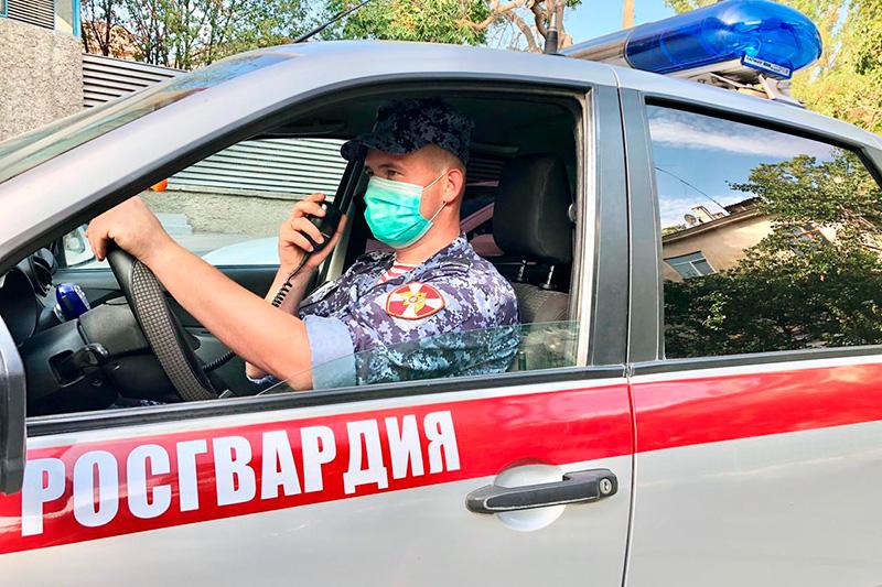 В Туве сотрудники Росгвардии задержали подозреваемого в угоне автомобиля