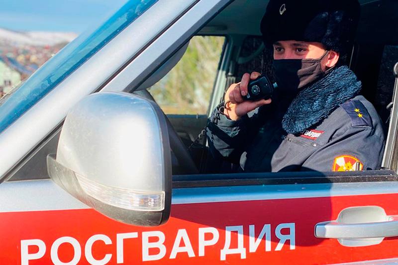 Нарядом Росгвардии в Заполярье задержан подозреваемый в угоне автомобиля